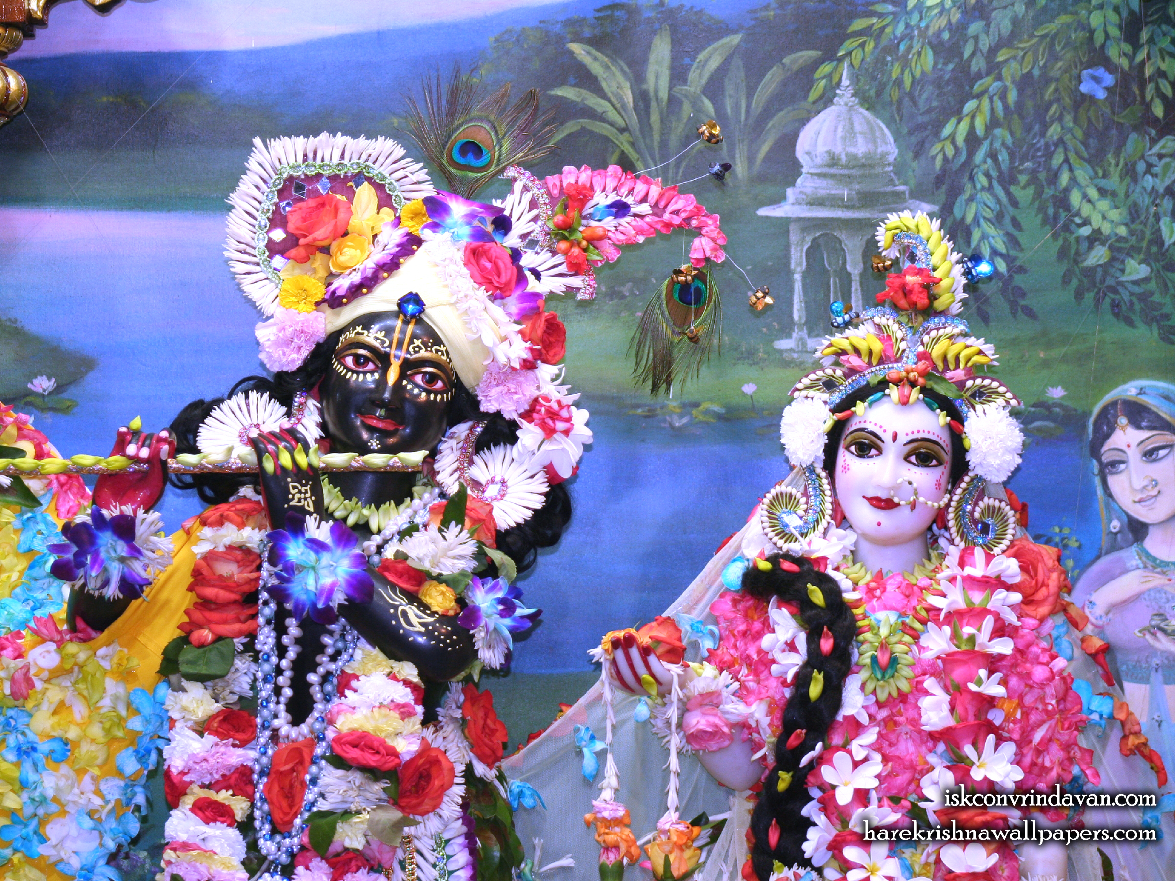 Sri Sri Radha Shyamsundar Close up Wallpaper (008) Size 2400x1800 Download