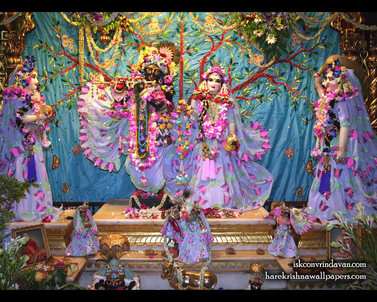 Sri Sri Radha Shyamsundar with Lalita Vishakha Wallpaper (008) Size 1280x1024 Download
