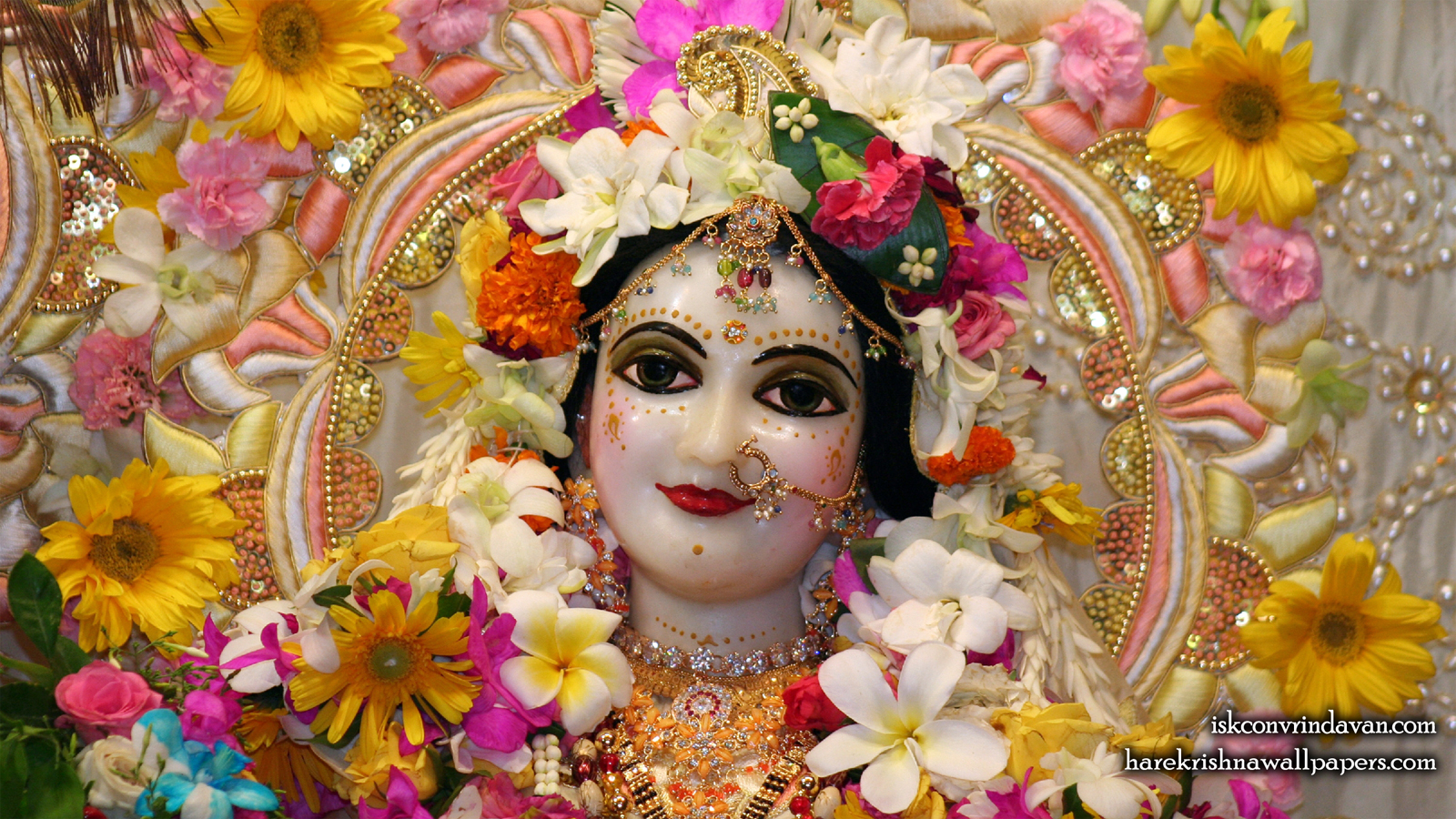 Sri Radha Close up Wallpaper (009) Size 1600x900 Download