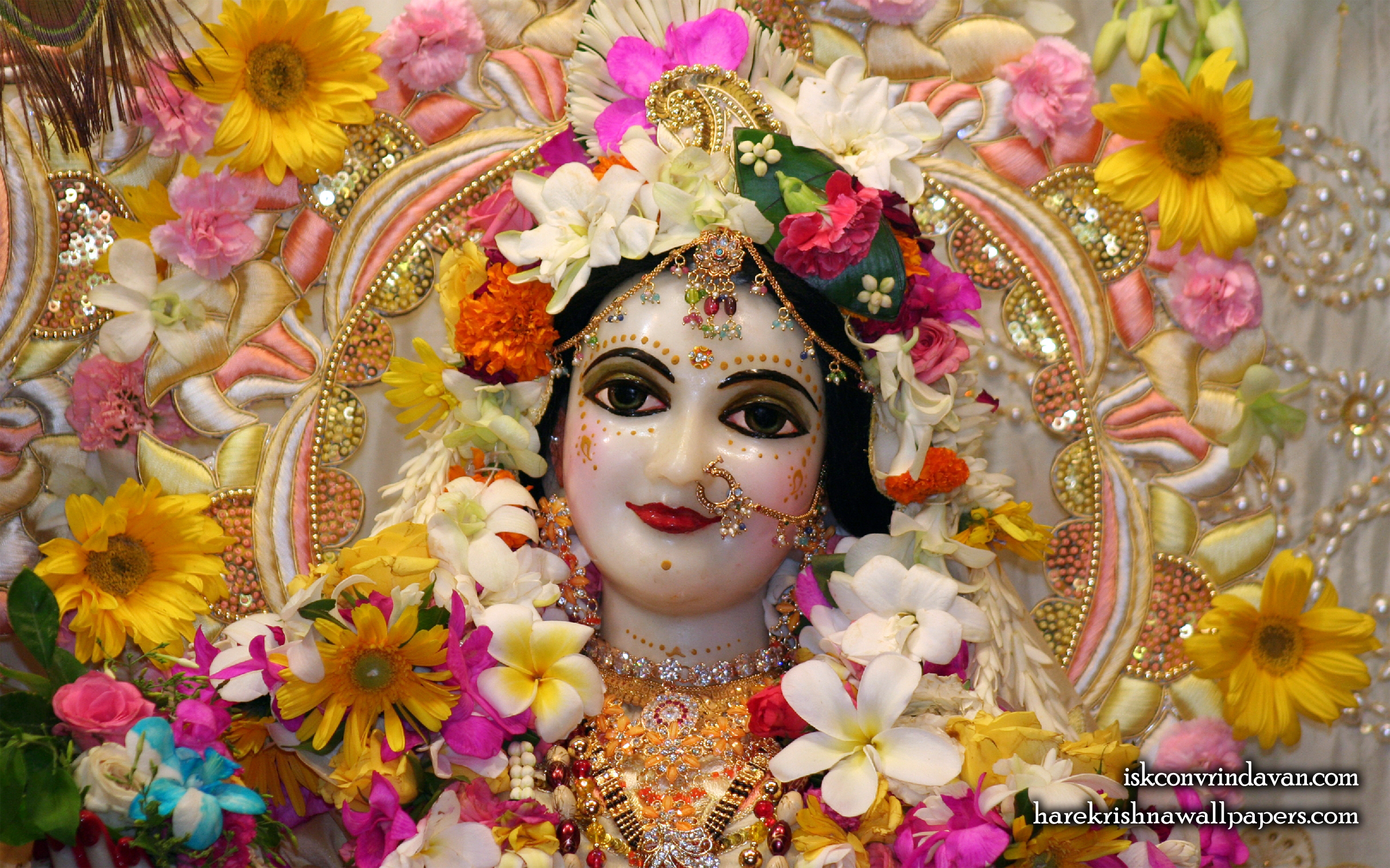 Sri Radha Close up Wallpaper (009) Size 2560x1600 Download