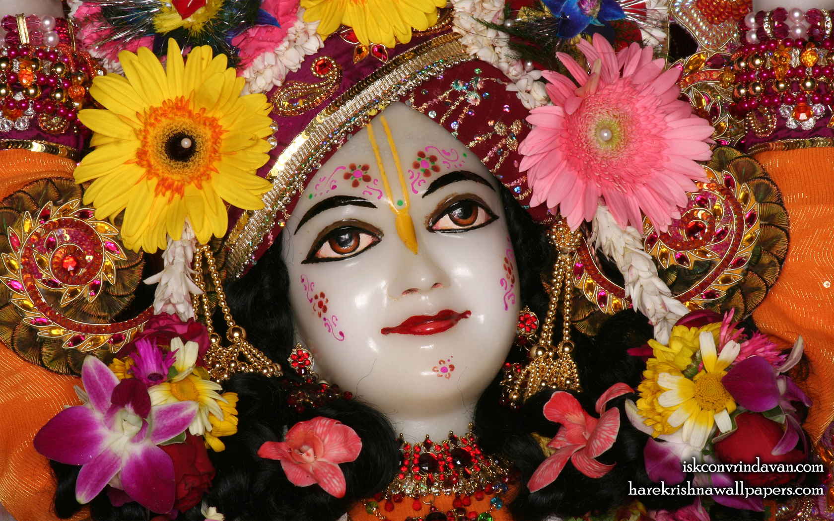 Sri Nitai Close up Wallpaper (010) Size 1680x1050 Download
