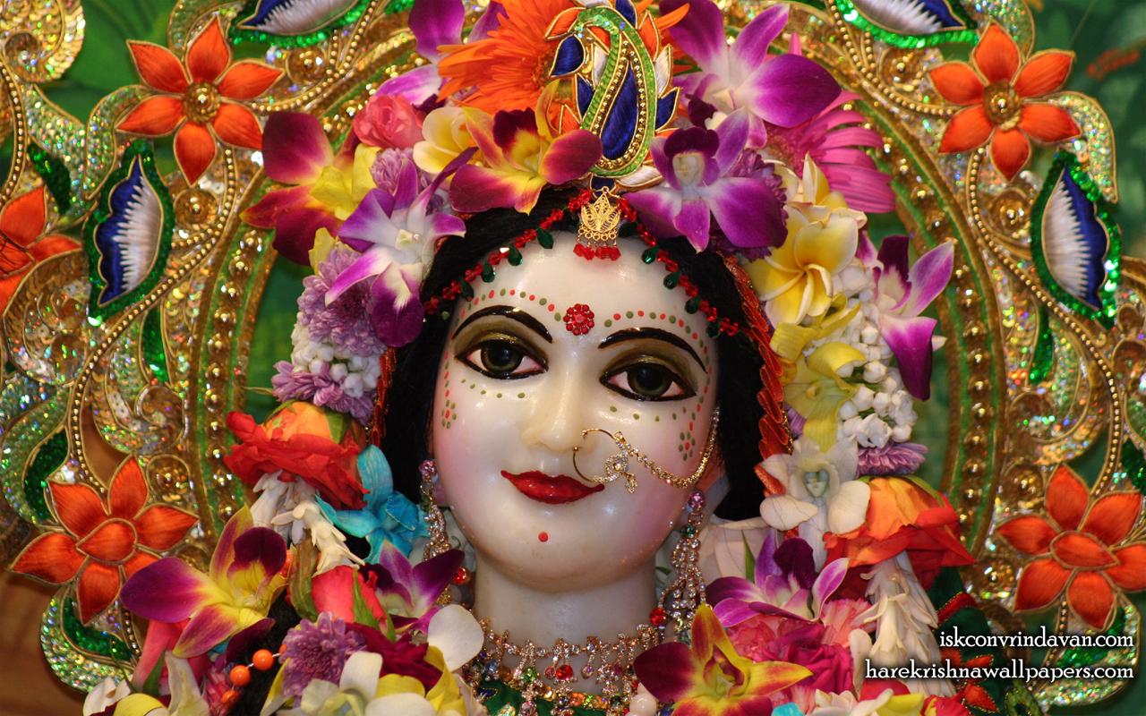 Sri Radha Close up Wallpaper (010) Size 1280x800 Download
