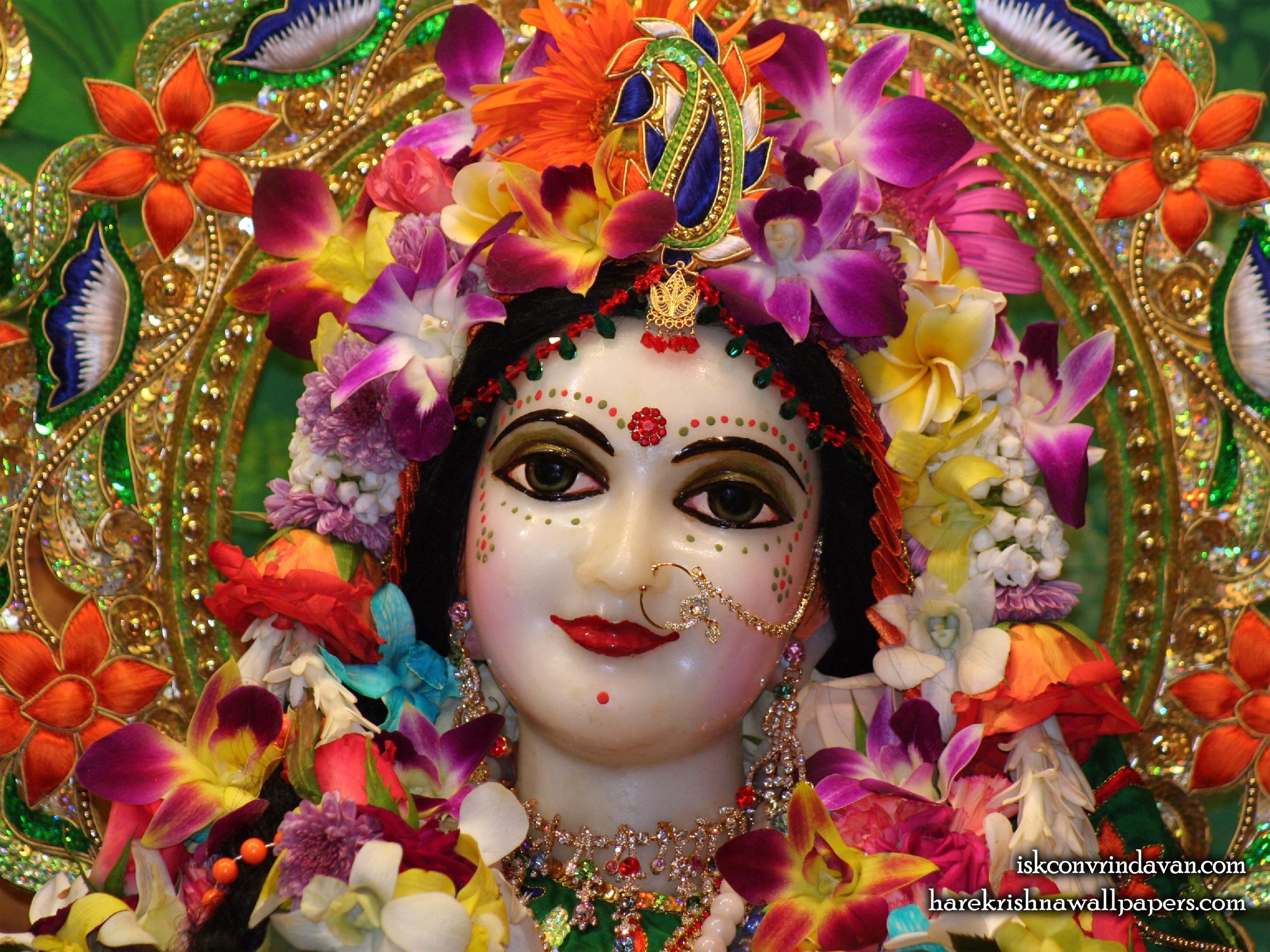 Sri Radha Close up Wallpaper (010) Size 2400x1800 Download