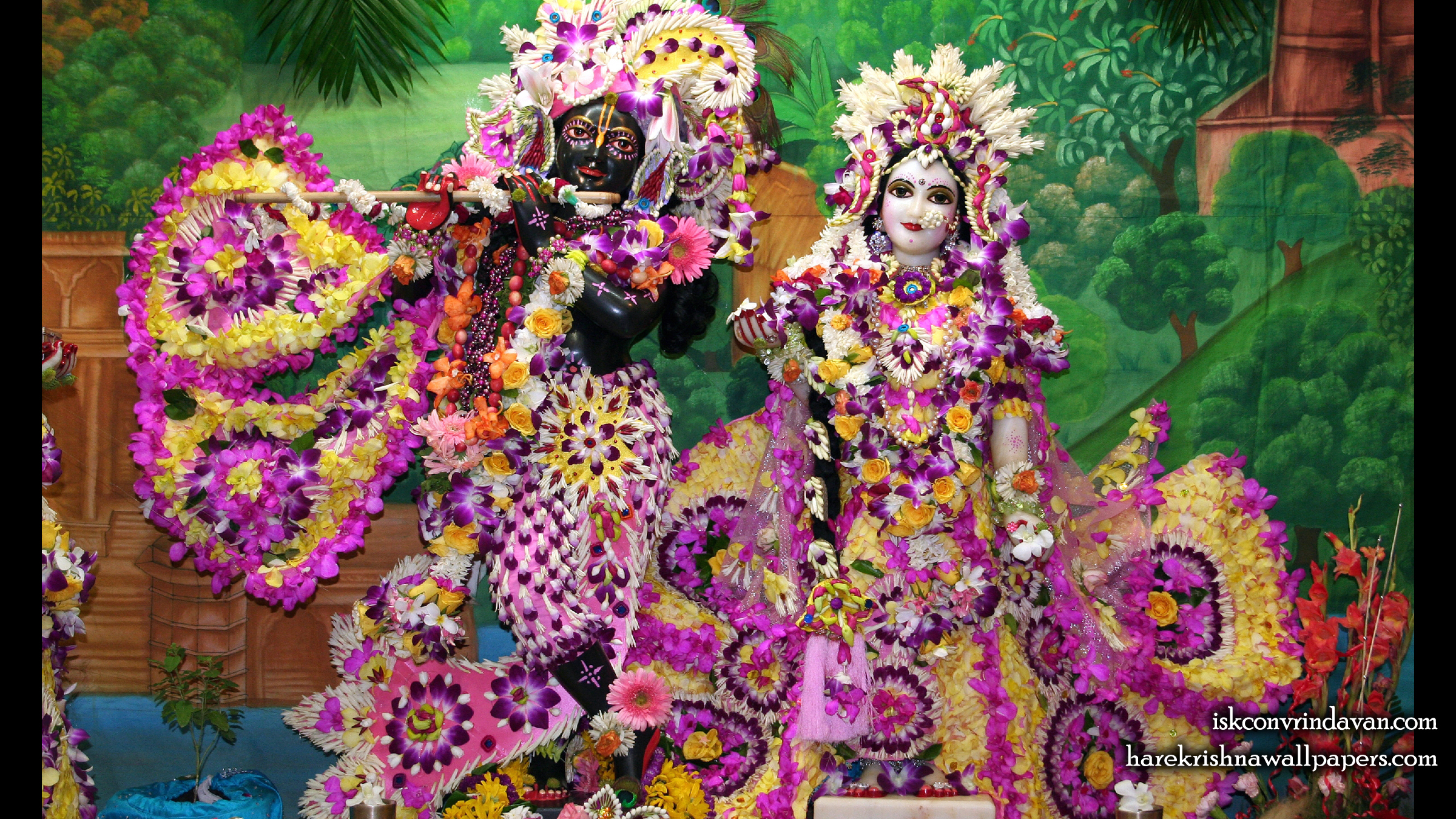 Sri Sri Radha Shyamsundar Wallpaper (010) Size 2400x1350 Download