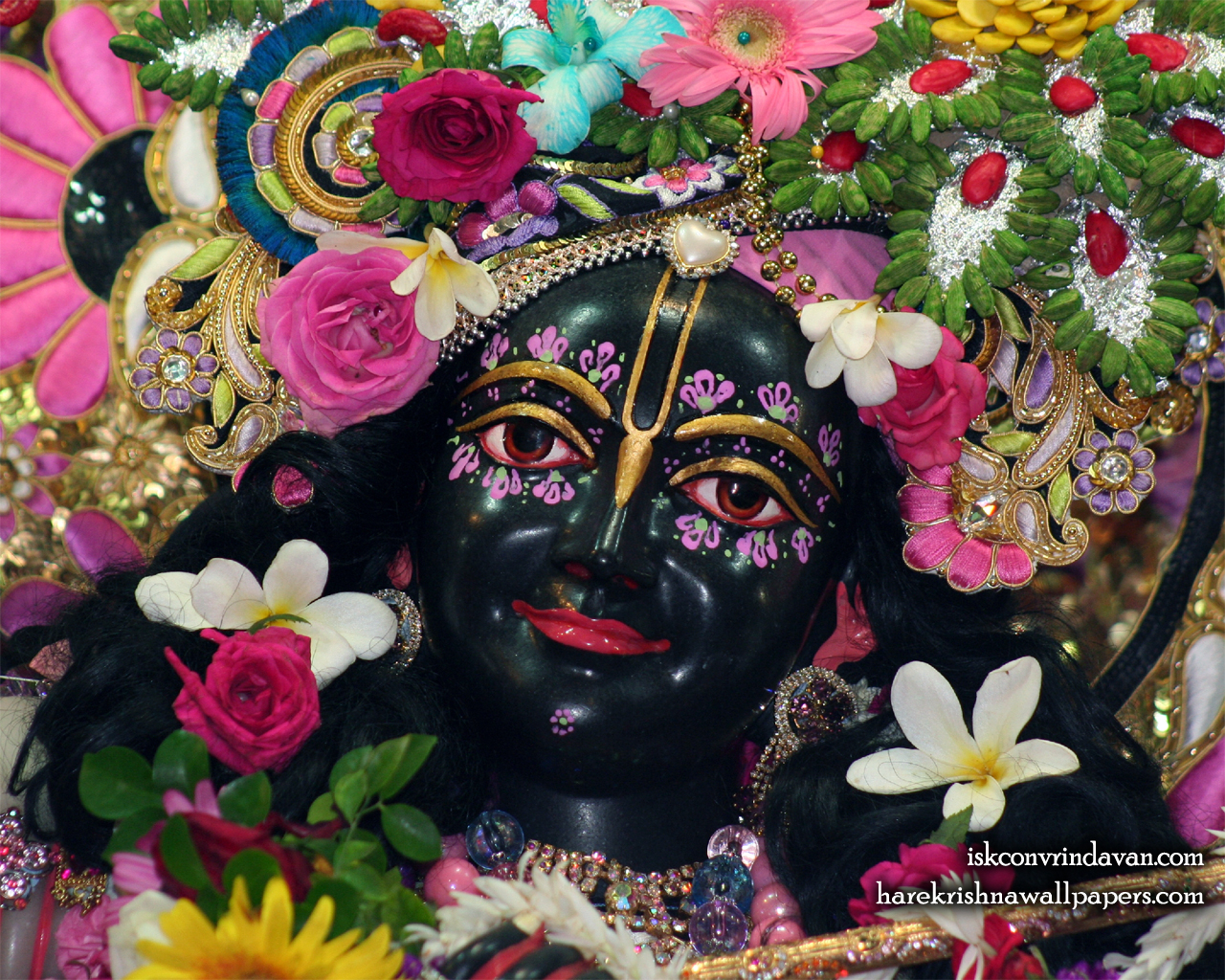 Sri Krishna Close up Wallpaper (011) Size 1280x1024 Download