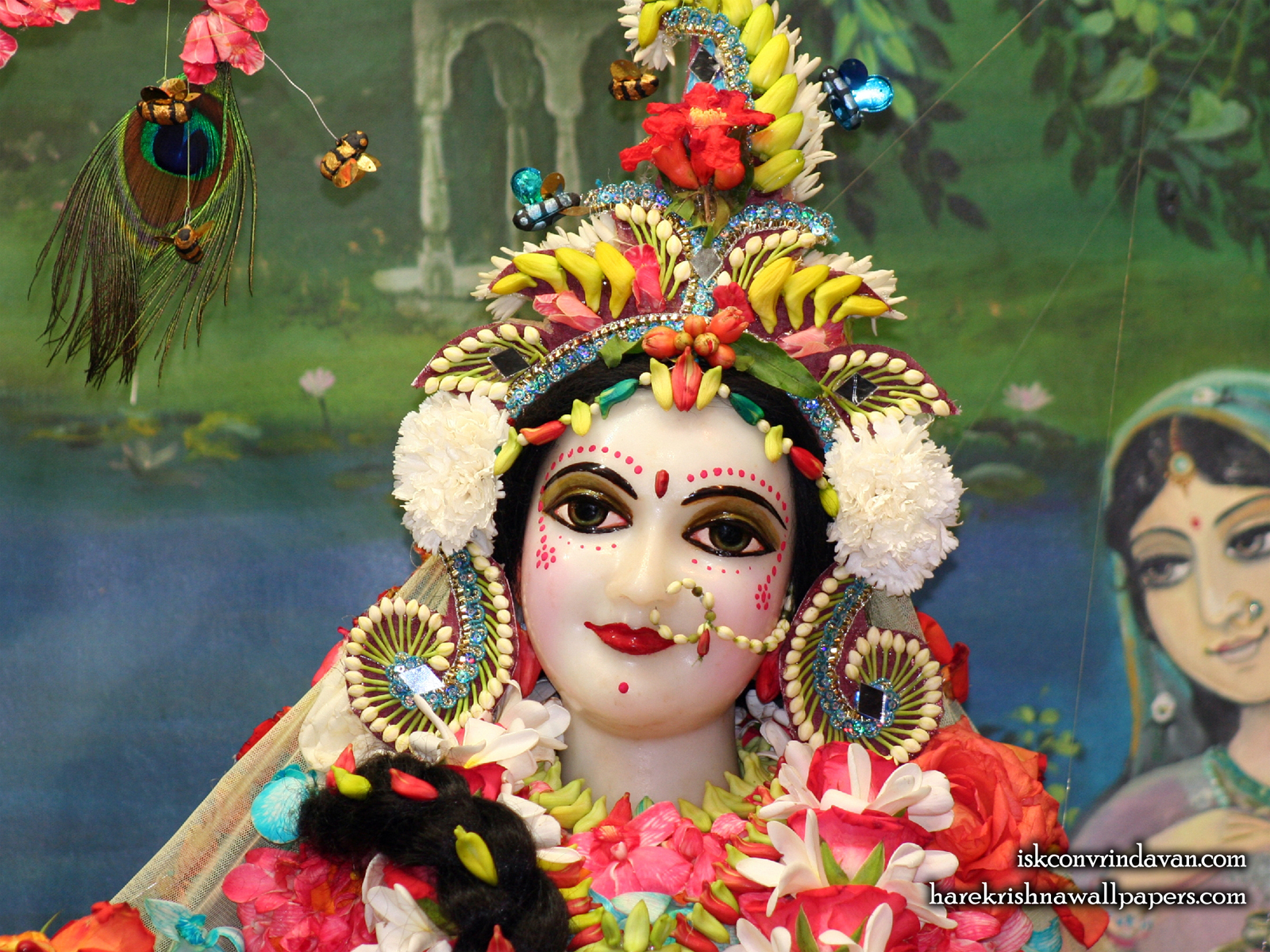 Sri Radha Close up Wallpaper (012) Size1600x1200 Download