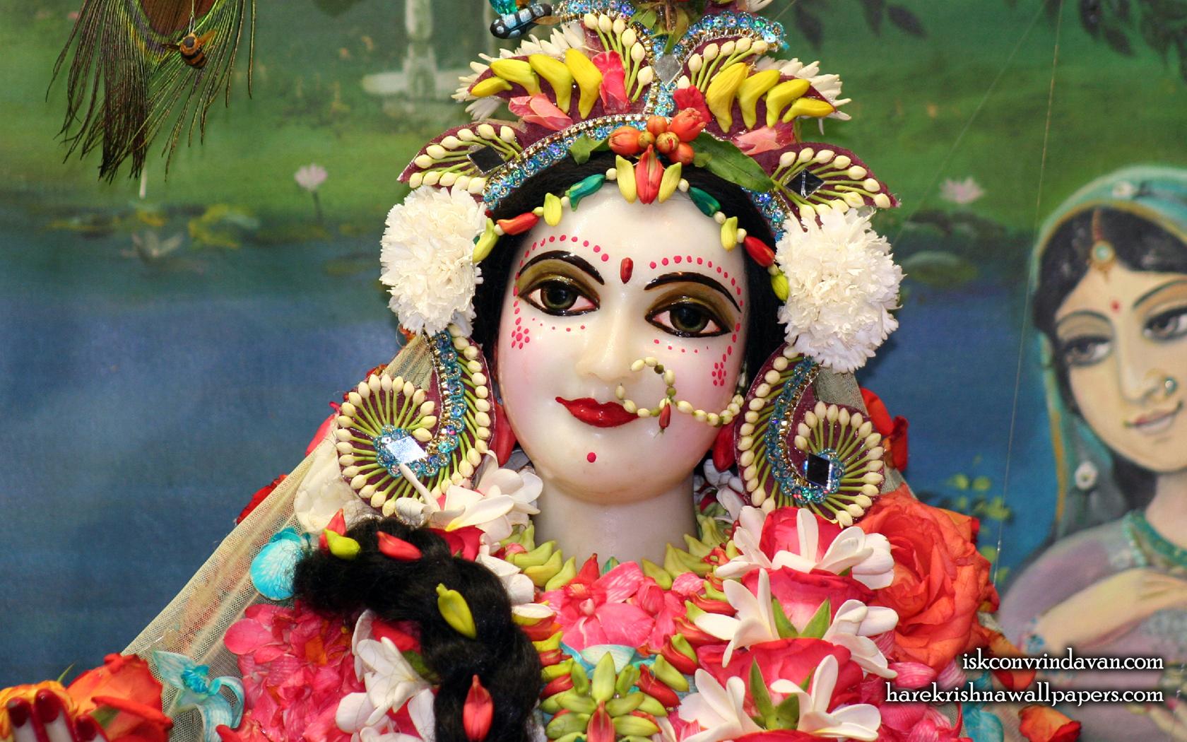 Sri Radha Close up Wallpaper (012) Size 1680x1050 Download