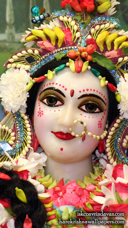 Sri Radha Close up Wallpaper (012) Size 450x800 Download