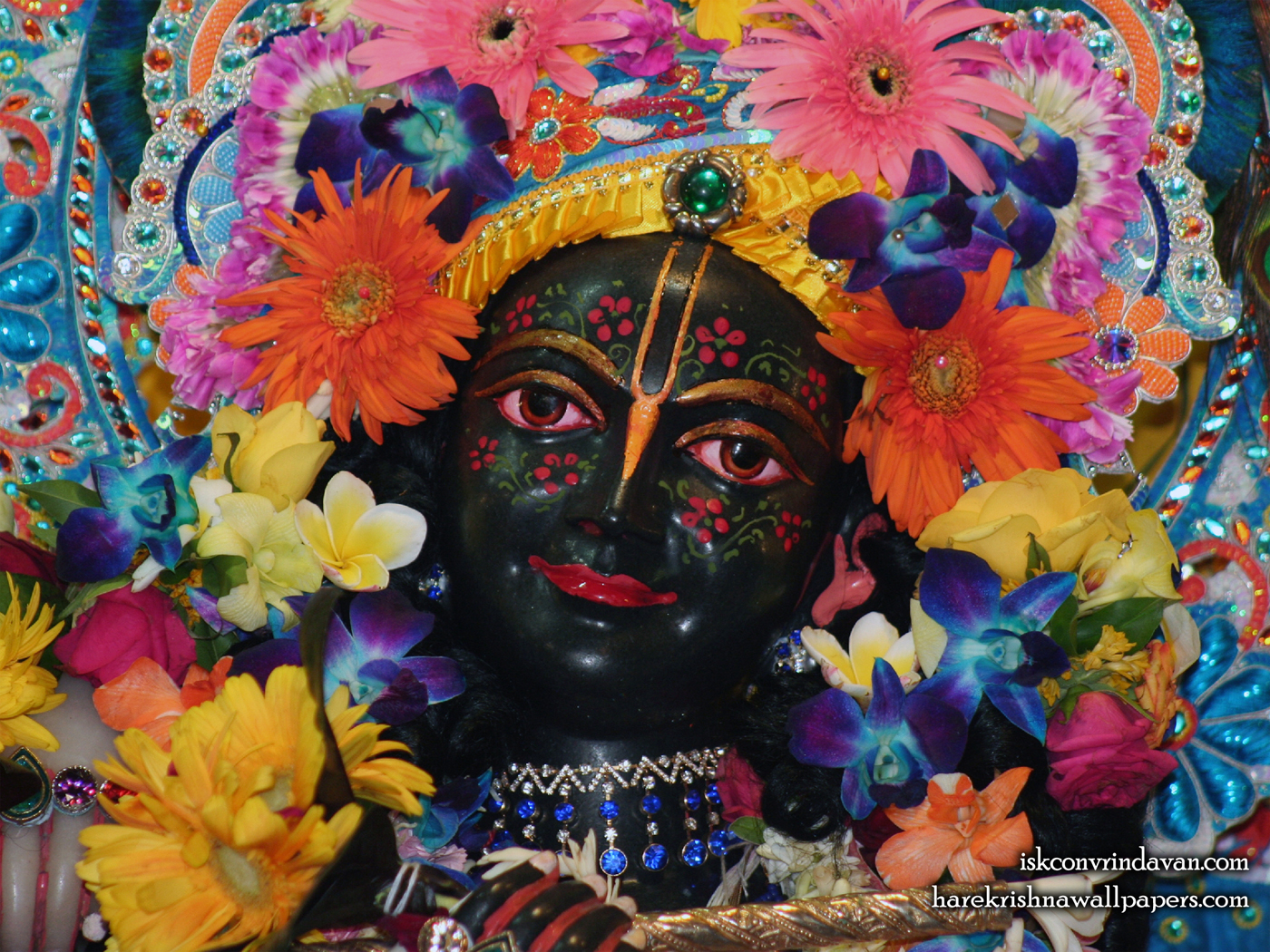 Sri Krishna Close up Wallpaper (013) Size 1400x1050 Download