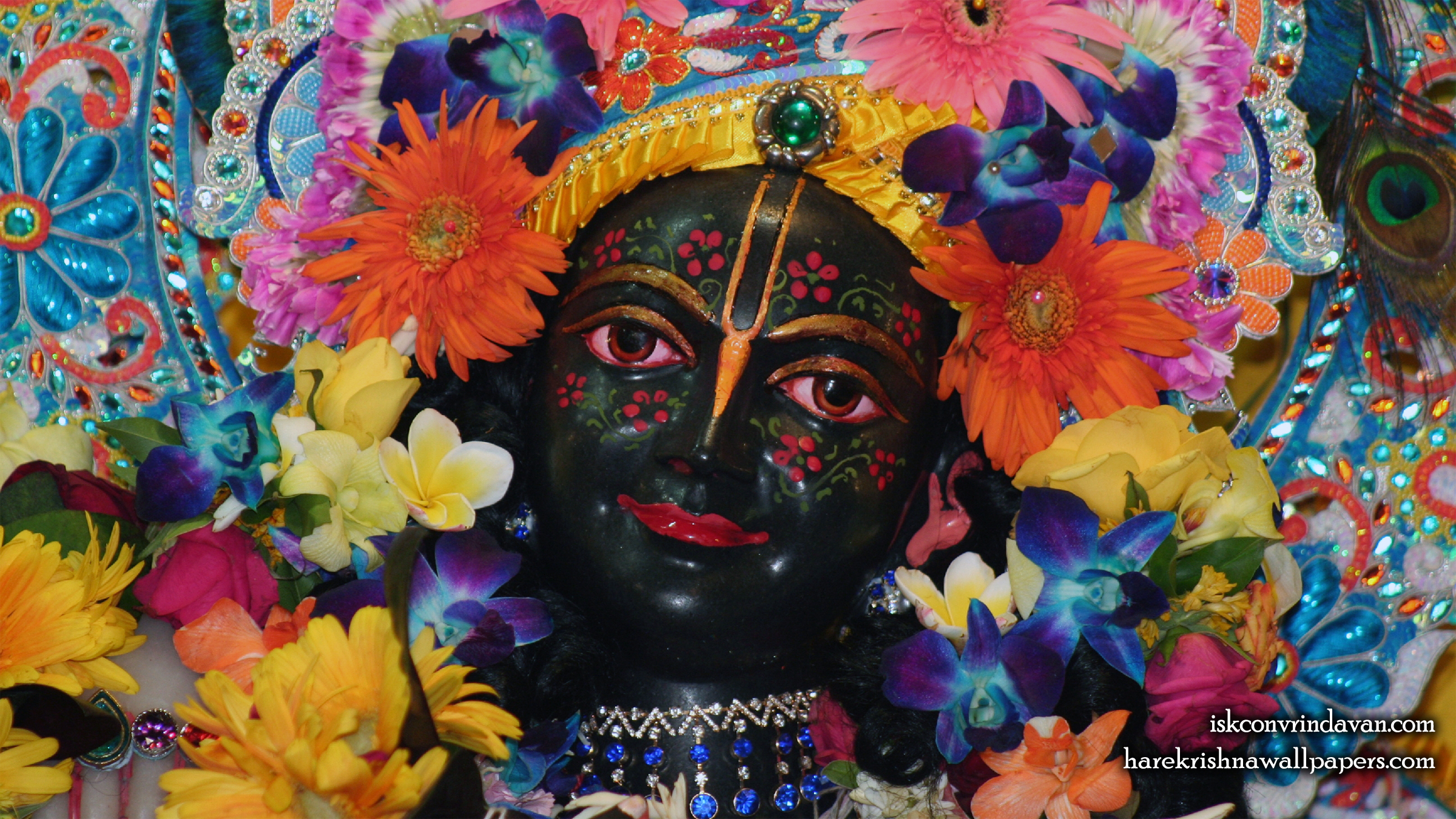 Sri Krishna Close up Wallpaper (013) Size 2400x1350 Download