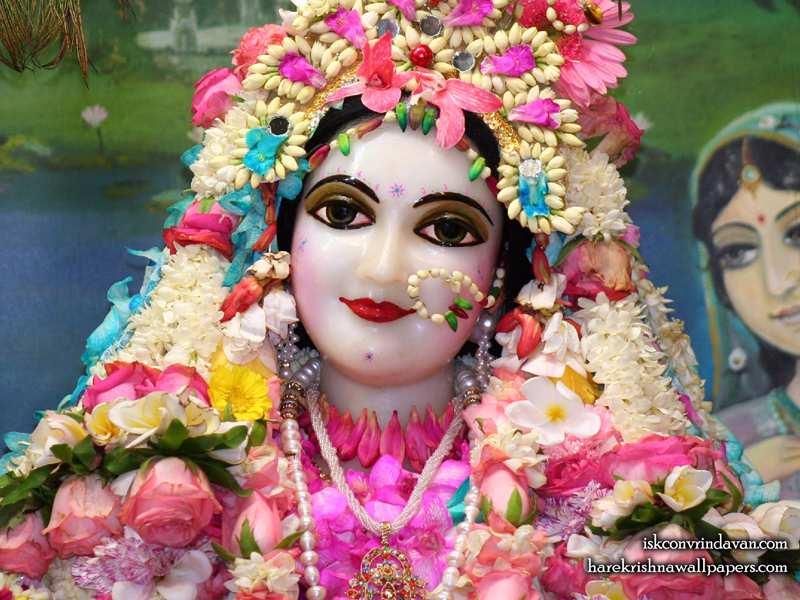 Sri Radha Close up Wallpaper (013)