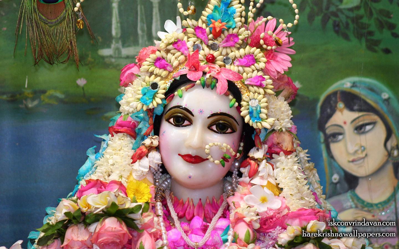 Sri Radha Close up Wallpaper (013) Size 1440x900 Download