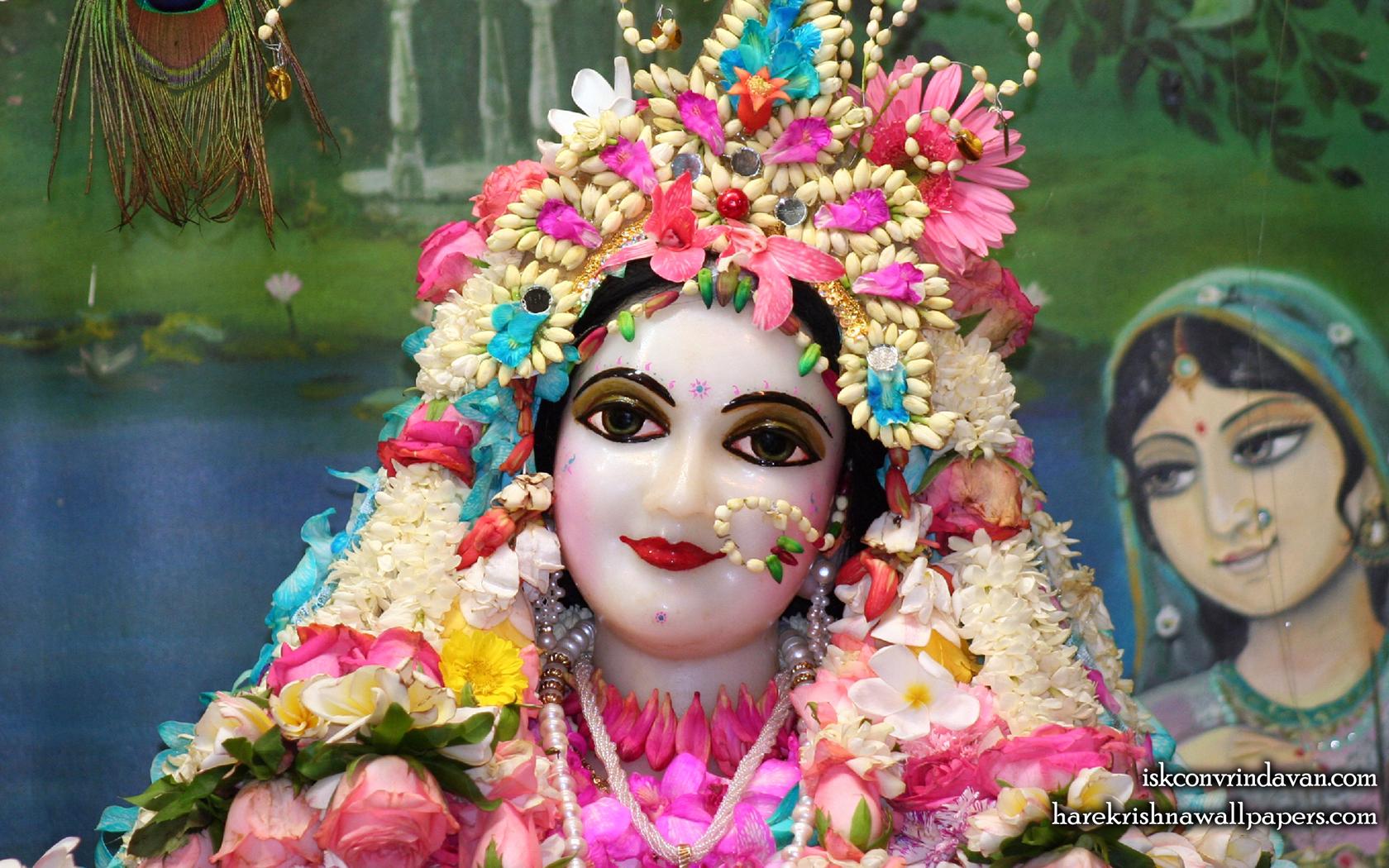 Sri Radha Close up Wallpaper (013) Size 1680x1050 Download