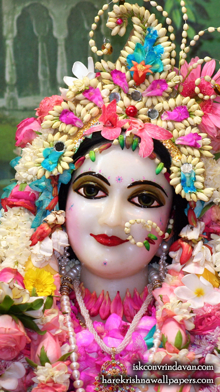 Sri Radha Close up Wallpaper (013) Size 450x800 Download