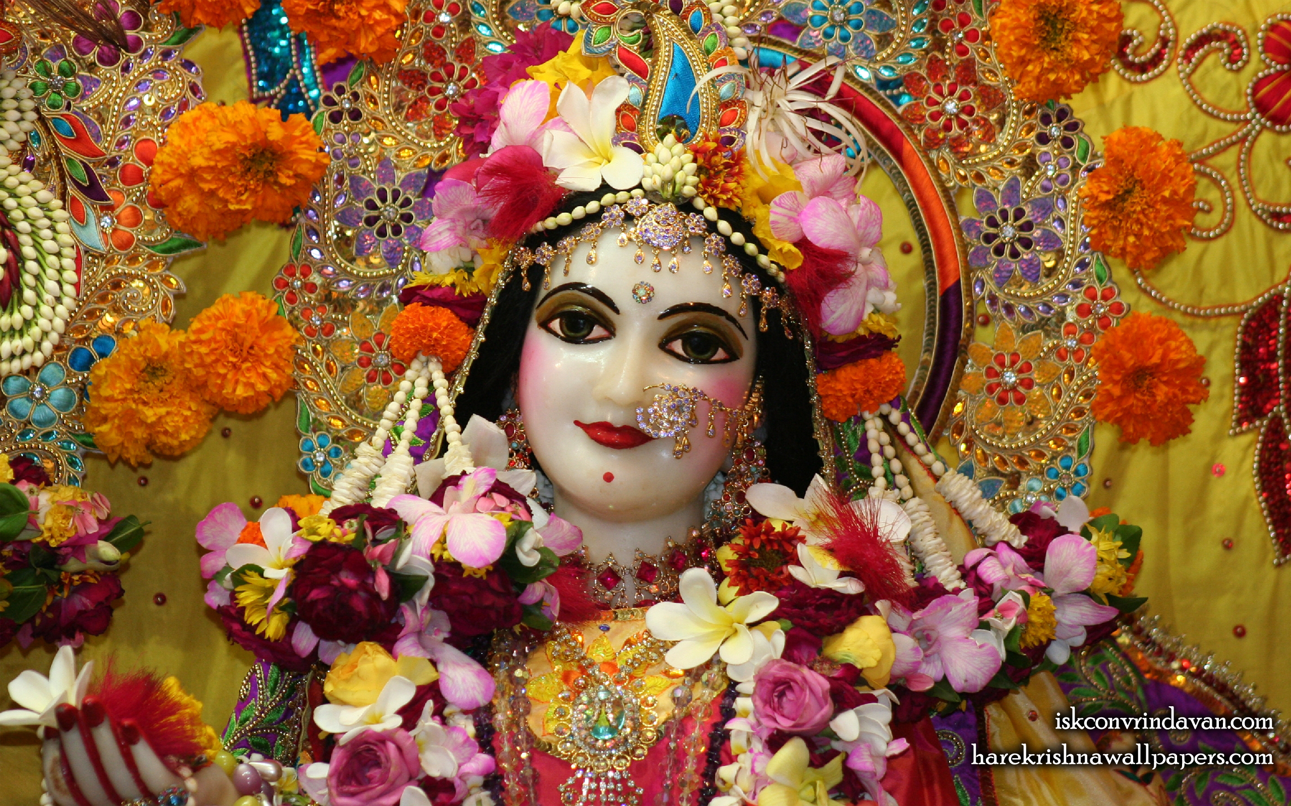 Sri Radha Close up Wallpaper (014) Size 2560x1600 Download