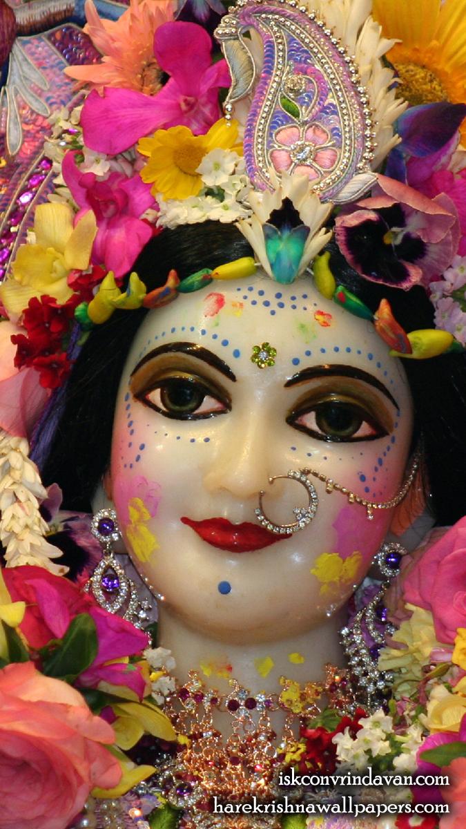 Sri Radha Close up Wallpaper (016) Size 675x1200 Download