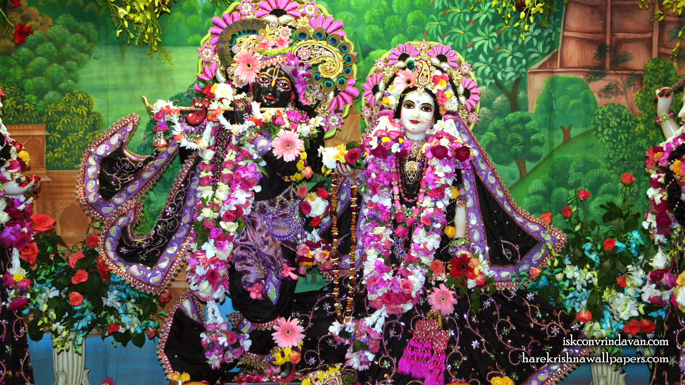 Sri Sri Radha Shyamsundar Wallpaper (016) Size 2400x1350 Download