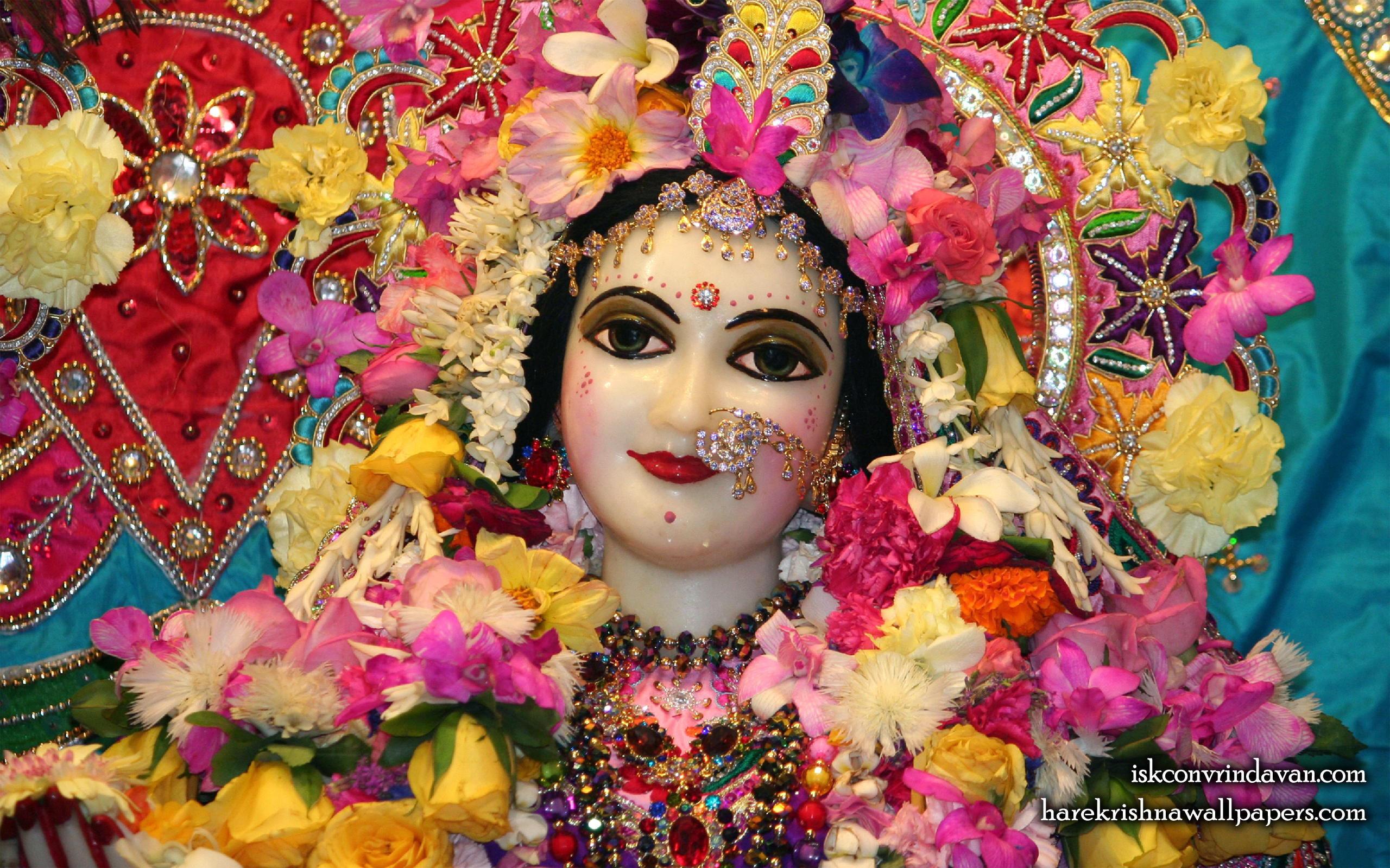 Sri Radha Close up Wallpaper (017) Size 2560x1600 Download