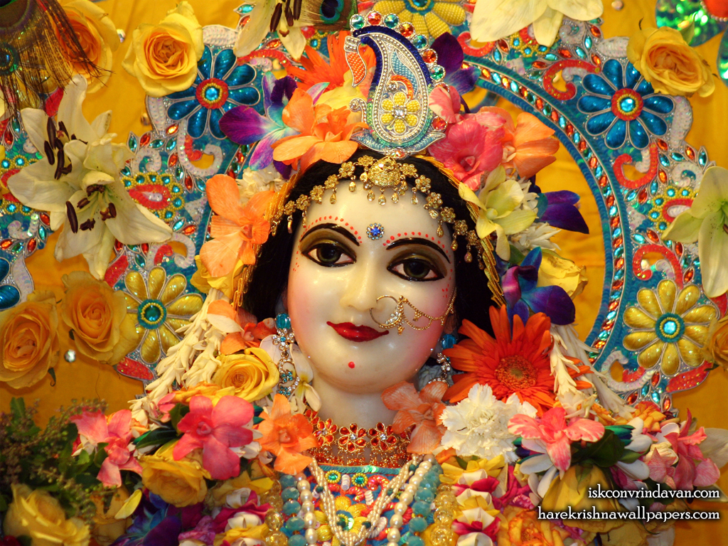 Sri Radha Close up Wallpaper (018) Size 1024x768 Download