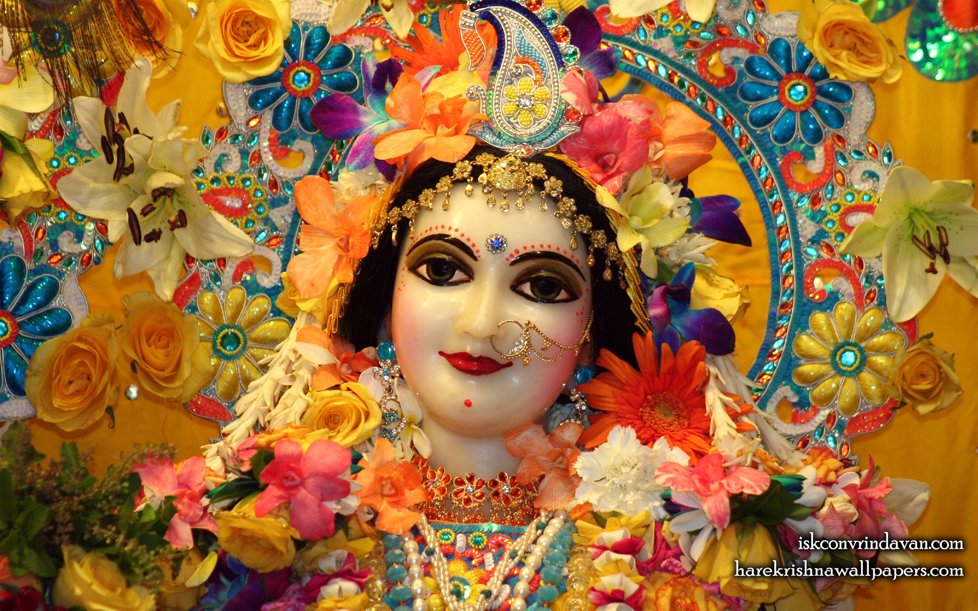 Sri Radha Close up Wallpaper (018) Size 1920x1200 Download