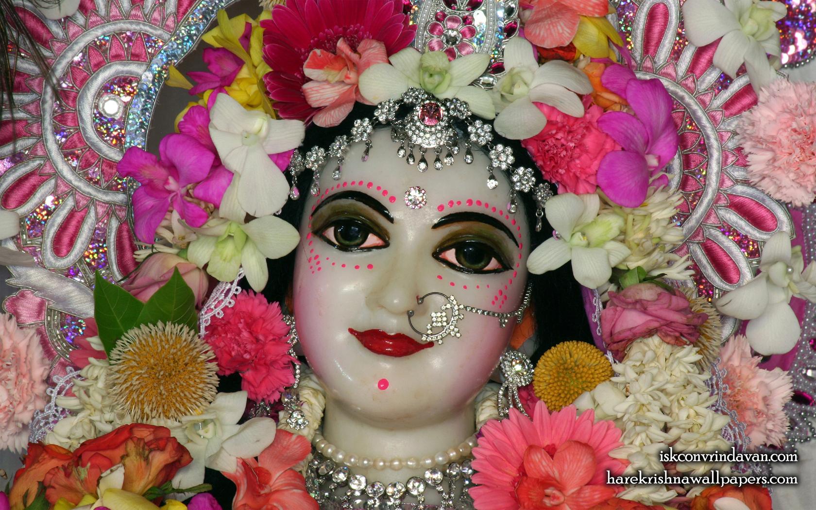 Sri Radha Close up Wallpaper (019) Size 1680x1050 Download