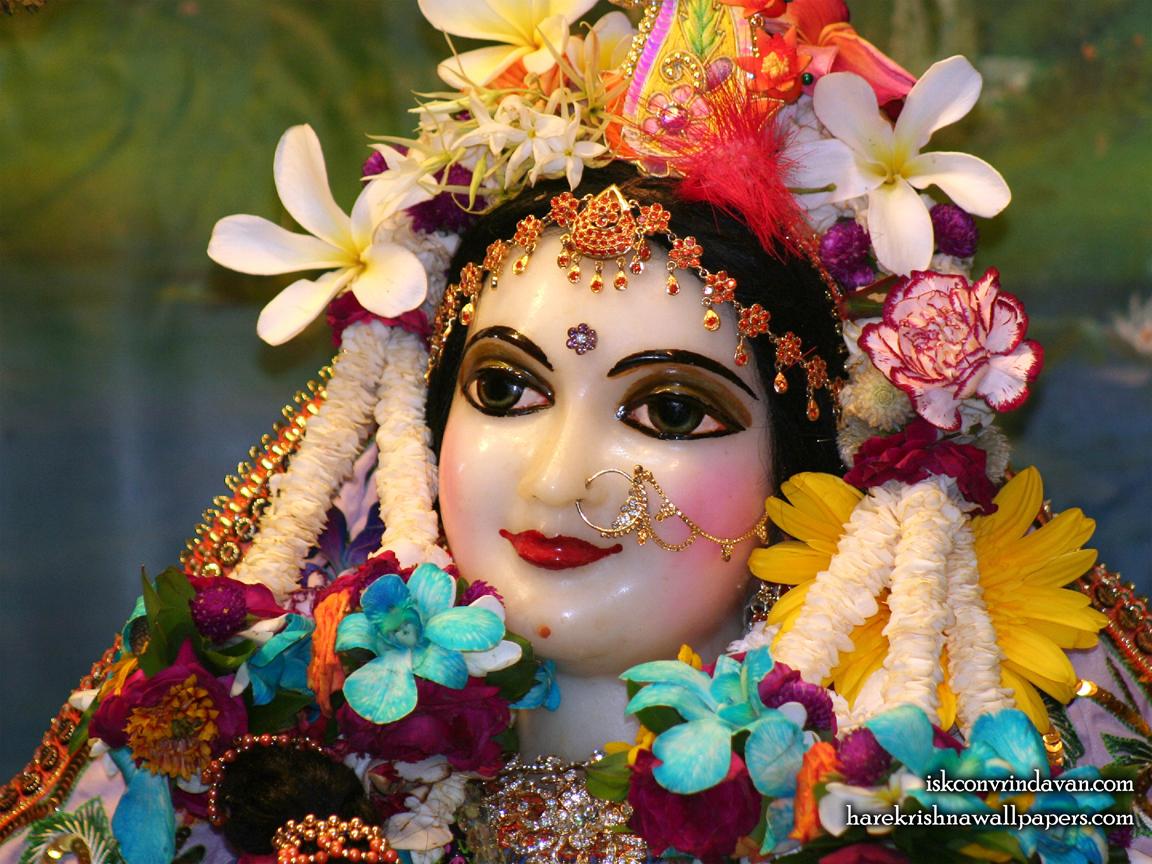 Sri Radha Close up Wallpaper (020) Size 1152x864 Download