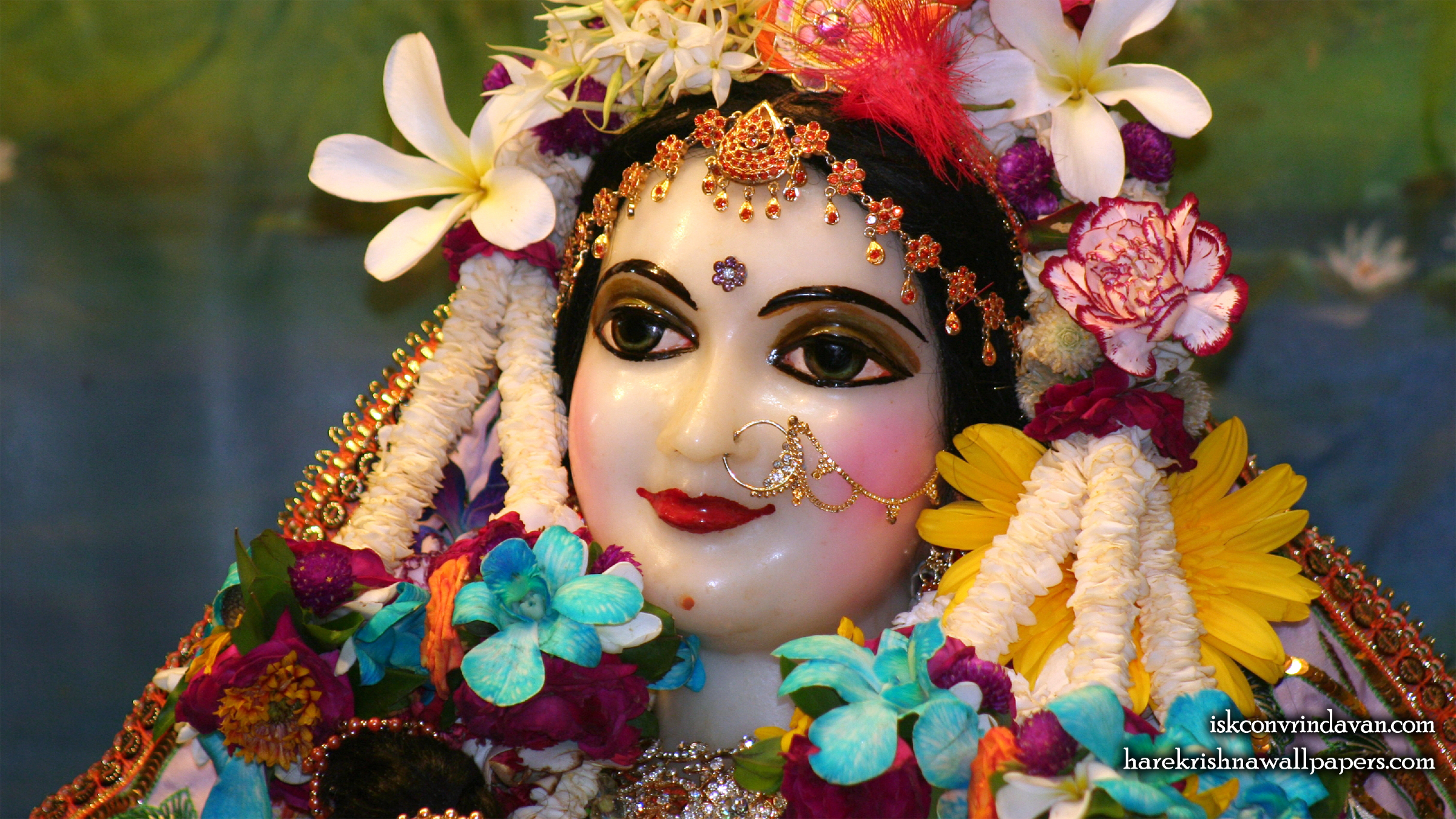 Sri Radha Close up Wallpaper (020) Size 2400x1350 Download