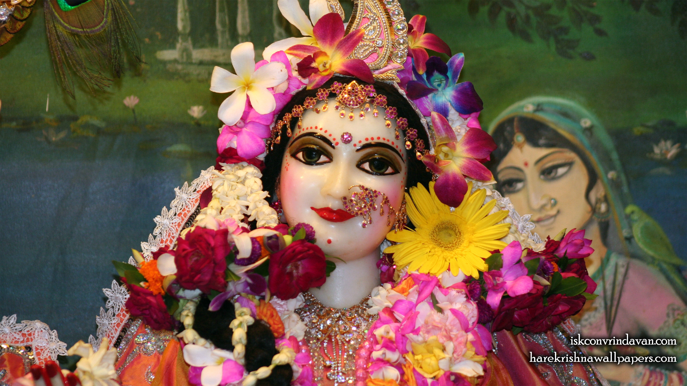 Sri Radha Close up Wallpaper (022) Size 2400x1350 Download