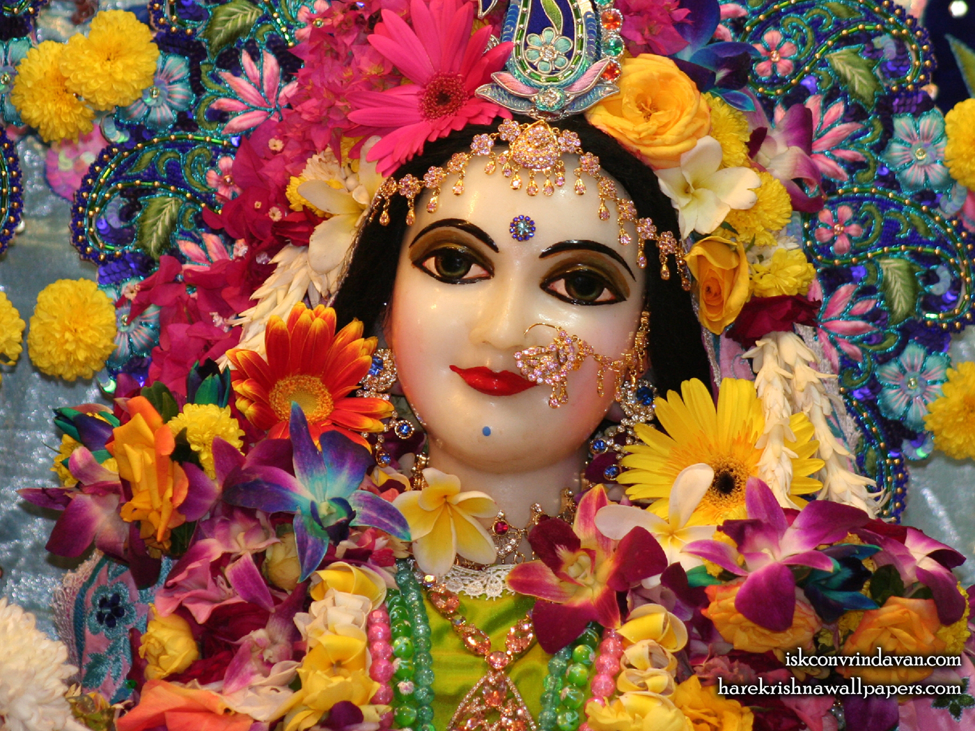 Sri Radha Close up Wallpaper (023) Size 1400x1050 Download