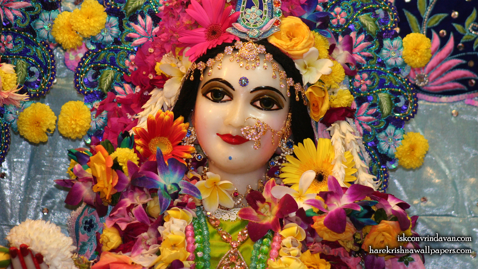 Sri Radha Close up Wallpaper (023) Size 1600x900 Download