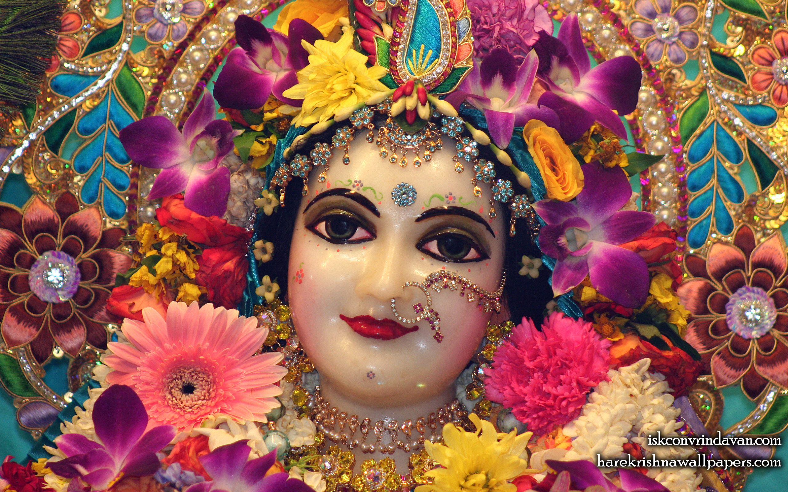 Sri Radha Close up Wallpaper (024) Size 2560x1600 Download