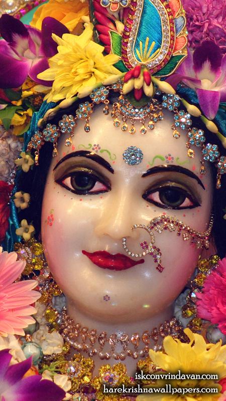 Sri Radha Close up Wallpaper (024) Size 450x800 Download